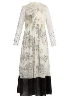 Valentino Garden of Delight-print silk-chiffon dress