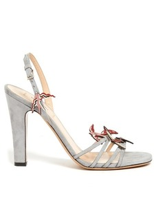 Valentino Garden of Earthly Delights suede sandals