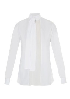 Valentino Georgette-panelled cotton blouse
