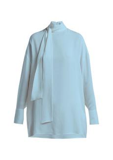 Valentino Georgette silk-crepe blouse
