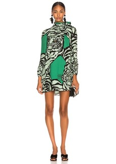 Valentino Georgette Tiger Print Dress