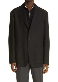 Valentino Giacca Virgin Wool Sport Coat
