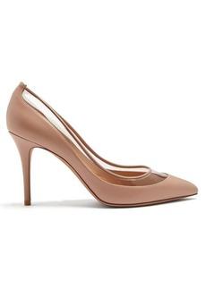 Valentino Glassglow detachable-bow leather pumps