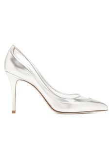Valentino Glassglow leather and Plexiglas pumps