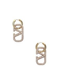 Valentino Go Logo Earrings