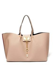 Valentino V-logo Escape large leather tote bag