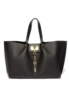 Valentino Go Logo Escape large leather tote bag