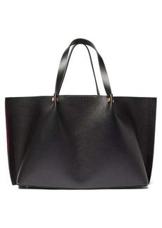 Valentino Go Logo large leather tote bag