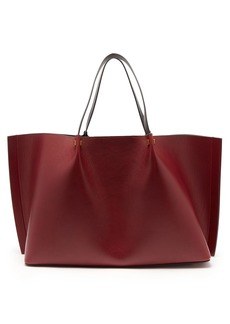 Valentino Go Logo large leather tote bag