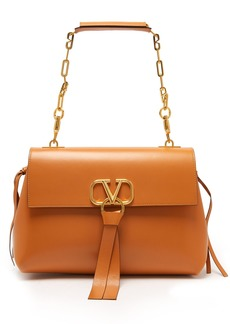 Valentino Go Logo medium leather shoulder bag