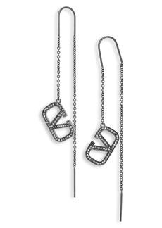 Valentino Go Logo Threader Earrings
