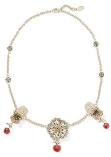 Valentino Garavani gold-tone, crystal and enamel necklace