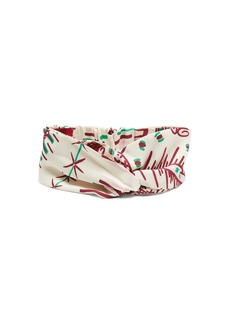 Valentino Graphic-print silk headband