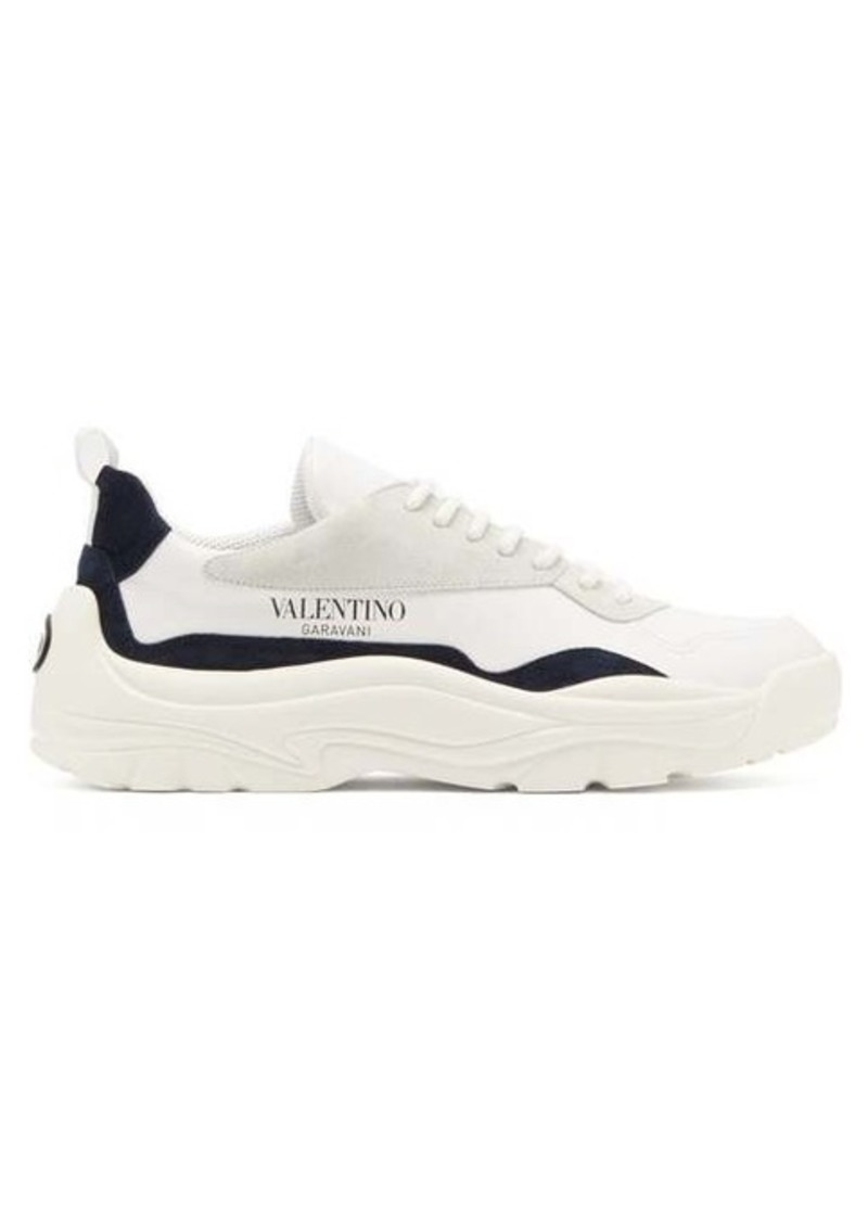 Valentino Gumboy chunky leather and suede trainers