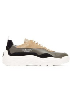 Valentino Gumboy leather and suede trainers