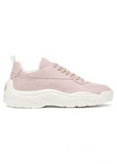 Valentino Gumboy raised-sole leather low-top trainers