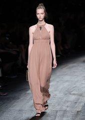 Valentino Halterneck silk-crepe gown