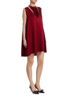 Hammered Satin Velvet Dress
