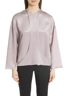 Valentino Harness Detail Hammered Lamé Top