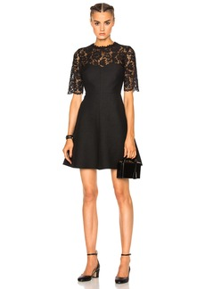 Valentino Heavy Lace & Crepe Couture Dress