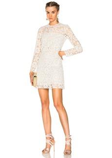 Valentino Heavy Lace Long Sleeve Mini Dress