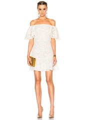 Valentino Heavy Lace Off The Shoulder Dress