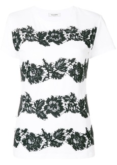 Valentino Heavy Lace T-shirt - White
