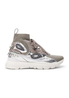 Valentino Heroes Her Embellished High Top Sneakers