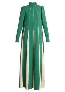 Valentino High-neck silk-sable dress