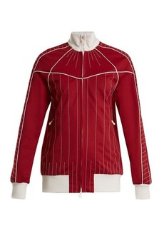 Valentino High-neck zip-through jersey track top