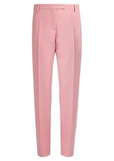 Valentino High-rise straight-leg crepe trousers