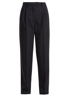 Valentino High-rise straight-leg wool trousers