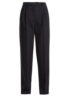Valentino High-rise straight-leg wool trousers