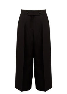 Valentino High-rise wide-leg wool and silk-blend culottes