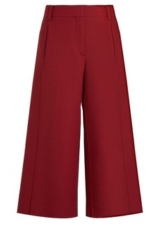 Valentino High-rise wool and silk-blend culottes