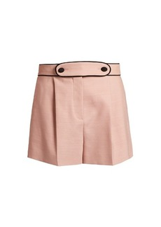 Valentino High-waist tailored stretch-wool shorts