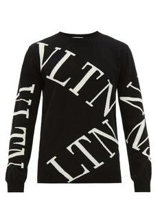 Valentino Intarsia-logo virgin wool-blend sweater