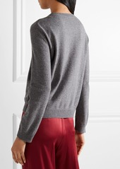 Valentino Intarsia wool and cashmere-blend sweater
