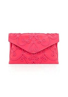 Valentino Intricate Large Scroll Envelope Clutch Bag
