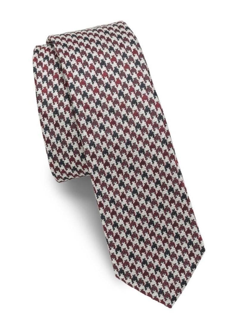 Mens Trident-Pattern Silk Necktie Valentino K2VmwUSCnr