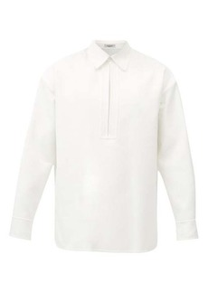 Valentino Keyhole-slit cotton-blend twill shirt