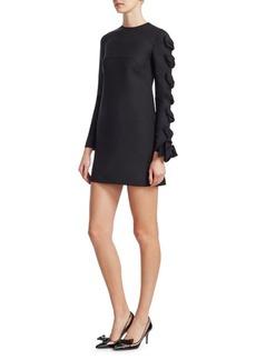 Valentino Knot Wool Shift Dress