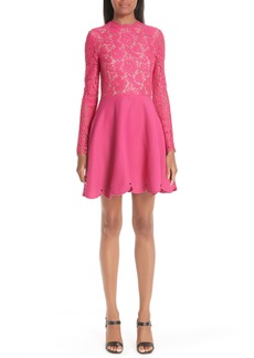 Valentino Lace & Crepe Dress