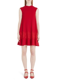 Valentino Lace Inlay Sweater Minidress