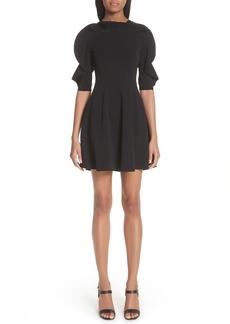 Valentino Lace Inset Ruffle Sleeve Dress