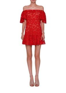 Valentino Lace Off-the-Shoulder Mini Dress
