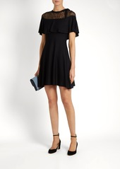Valentino Lace-panel knitted-jersey dress