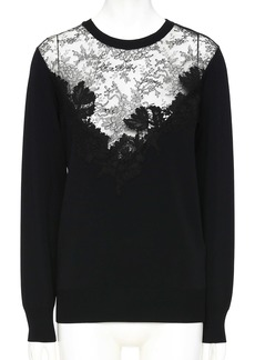 Valentino Lace Panel Sweater
