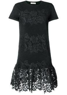 Valentino lace panel sweater dress