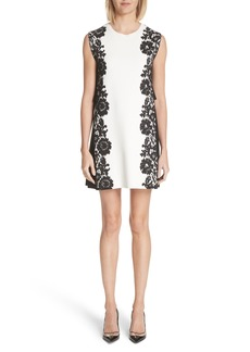 Valentino Lace Side Contrast Shift Dress